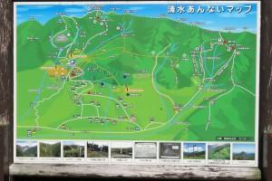 清水バス停のあんないマップ